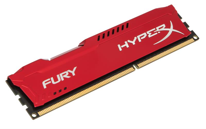 RAM PC Kingston 4G 1600MHZ DDR3 CL10 Dimm HyperX Fury Red-HX316C10FR/4
