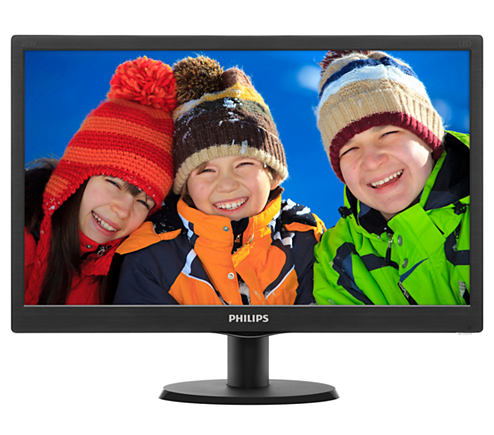Màn Hình - LCD Philips 193V5LSB2/97 | 18.5 inch HD (1600 x 900 @ 60 Hz) LED Anti Glare _VGA 1119D