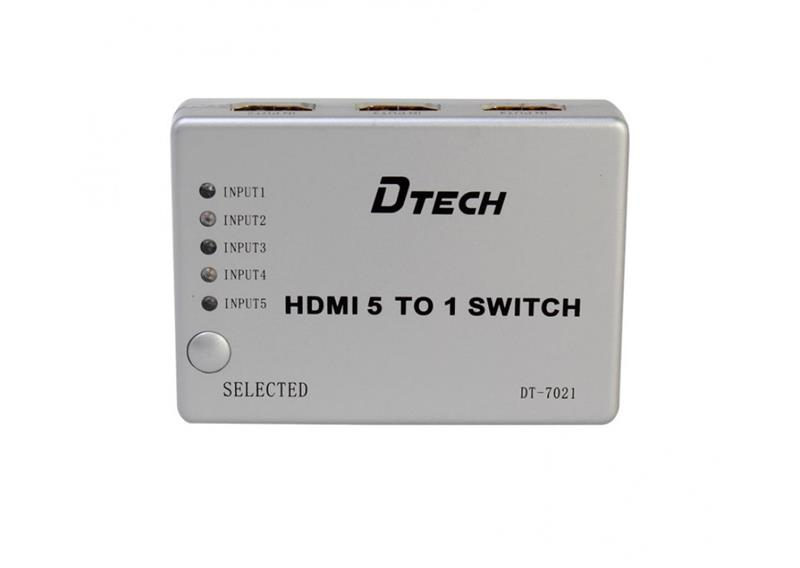 SWITCH HDMI 5-1 DTECH (DT-7021) 318HP