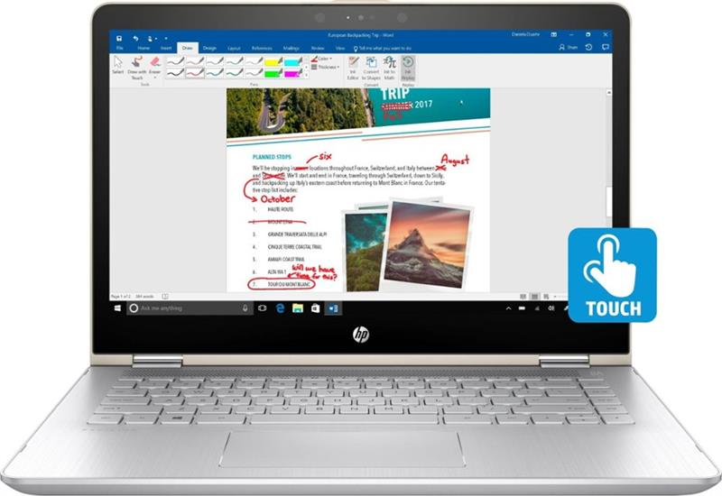 "HP Pavilion x360 14m-ba011dx Core i5-7200U_Ram 8GB_128GB SSD_ 14"" Full HD IPS Touch_USA_BB"