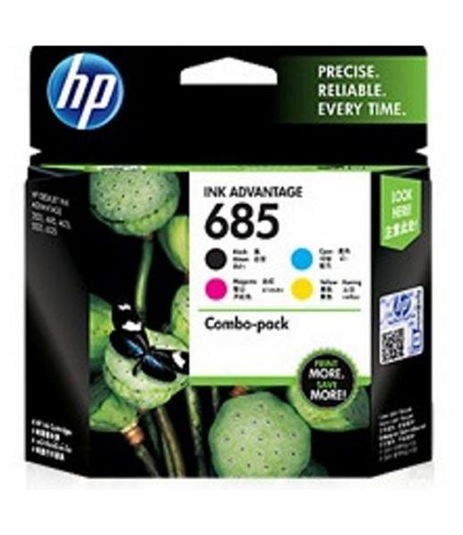 HP 685 Photo Value Pack 4-color Ink Advantage Cartridges Pack, CMYK, COMBO PACK J3N05AA 618EL