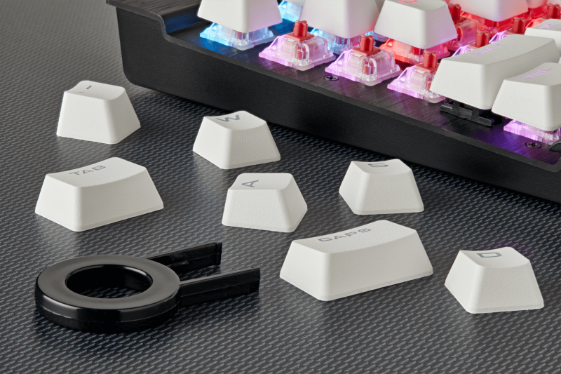 Keycap PBT Double Shot Full 104/105-Keyset — White (CH-9000234-WW) _1118KT