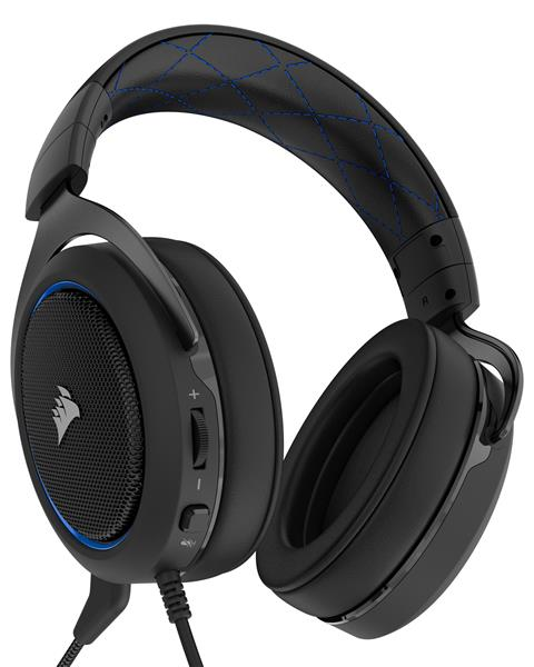 Corsair HS50 Stereo Gaming Headset - Blue (CA-9011172-AP) _1118KT