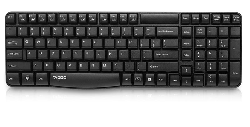 Keyboard Rapoo E1050 (11494) Wireless_Black_16041WD