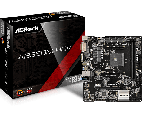 Mainboard Asrock AB350M-HDV Socket AM4 _518SP