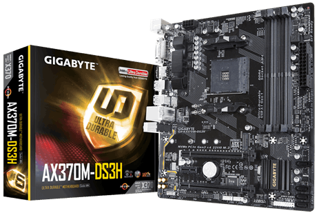 Mainboard Gigabyte AX370M-DS3H AMD Socket AM4 _618S