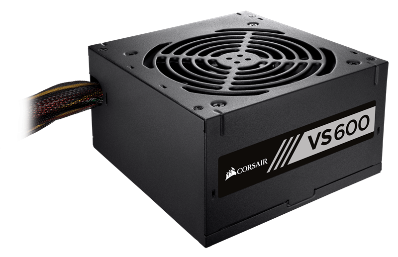 CORSAIR VS600 (CP-9020119-NA) 600 Watt 80 PLUS® White Certified PSU 11817KT