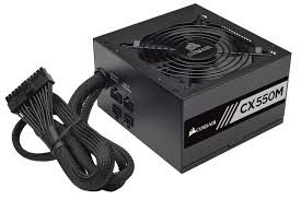 Corsair CX550M (CP-9020102-NA) 550 Watt 80 PLUS® Bronze Certified Modular ATX PSU 11817KT
