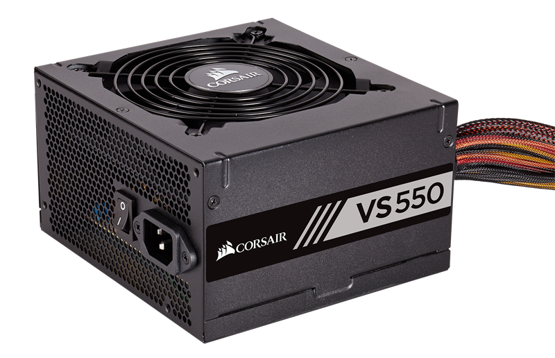 Corsair™ VS550 — 550 Watt 80 PLUS® White Certified PSU (CP-9020171-NA) _919KT