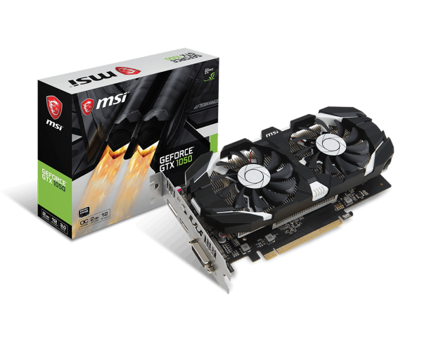 VGA MSI NVIDIA® GeForce® GTX 1050 2GB GDDR5 (GTX1050 2G OCV1) _618ELF