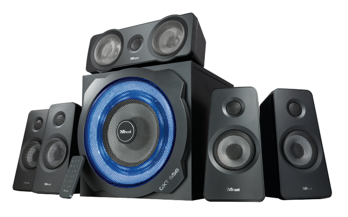 Speaker Trust GXT 658 Tytan 5.1 Gaming Surround System with Subwoofer (21738) 118MC