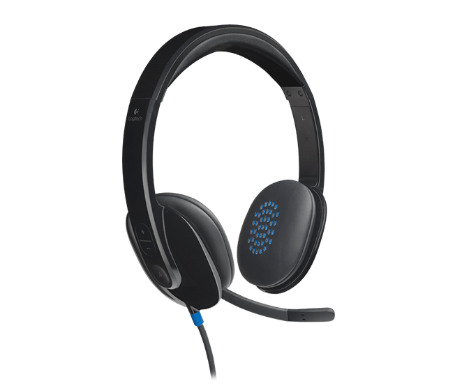 Logitech H540 Stereo USB Headset with Microphone & On-Ear Controls ()
