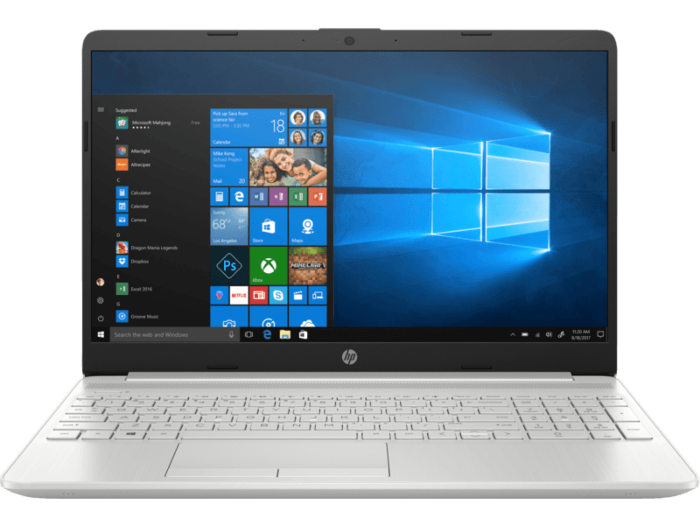 HP 15s du0054TU (6ZF60PA) | Intel® Kaby Lake Core™ i3 _7020U _4GB _1TB _VGA INTEL _Win 10 _0120F