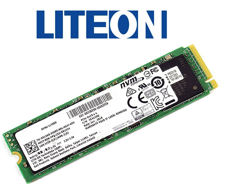 SSD Liteon 128GB PCIe® NVMe™ M.2 2280 Read Up to 1500MB/s 518MTC