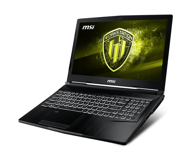MSI Workstation WE63 8SI | Intel® Core™ i7 _8750H _16GB _128GB SSD PCIe _1TB 7200rpm _Nvidia® Quadro® P1000 with 4GB GDDR5 _Win 10 _Full HD _LED KEY