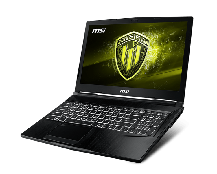 MSI Workstation WE63 8SJ Intel® Core™ i7 _8750H _16GB _256GB SSD PCIe _1TB _Quadro® P2000 with 4GB GDDR5 _Win 10 _Full HD IPS _LED KEY
