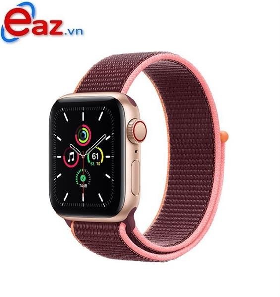 Apple Watch SE GPS + Cellular 44mm MYEY2VN/A Gold Aluminium Case with Plum Sport Loop | 1120D