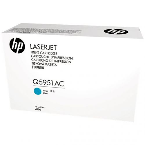 HP Cyan Contract Original LaserJet Toner Cartridge (Q5951AC) _719F