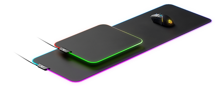 SteelSeries QcK Prism XL Gaming Mouse Pad with RGB Lighting (63826) _1118KT