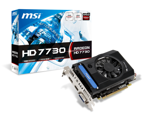 VGA MSI AMD Radeon HD 7730 1GB GDDR5 (R7730-1GD5V1) 518EL