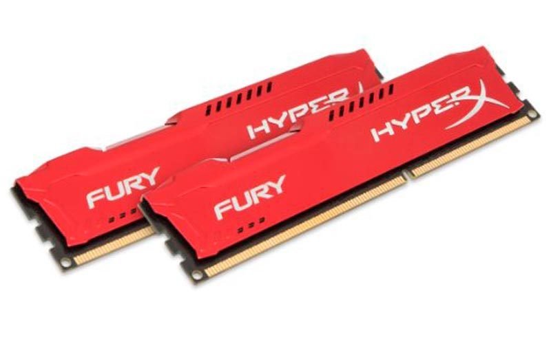 RAM PC 8GB KINGSTON HYPERX FURY BUS 2400 RED _ HY424C15FR2/8