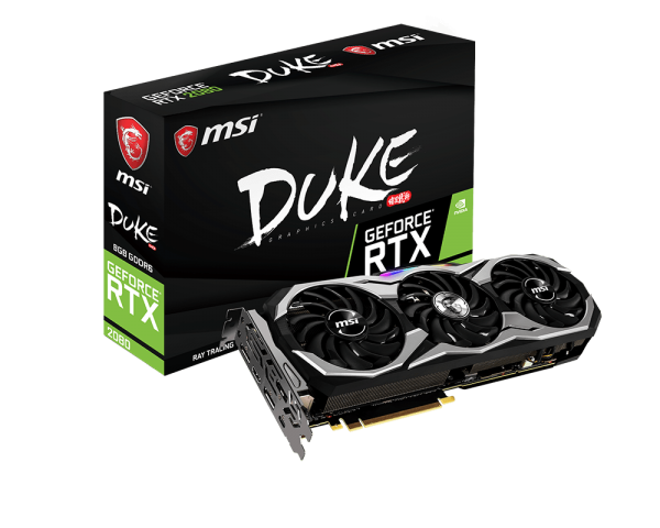 VGA MSI NVIDIA® GeForce® RTX 2080 with 8GB GDDR6 (RTX 2080 DUKE 8G OC) _1118KT