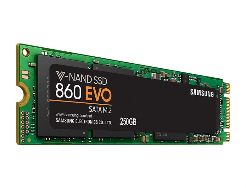 Samsung 860 EVO 250GB M.2 SATA Internal SSD (MZ-N6E250BW) 618MC