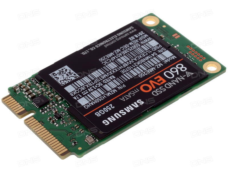 Samsung 860 EVO 250GB mSATA Internal SSD (MZ-M6E250BW) 618MC