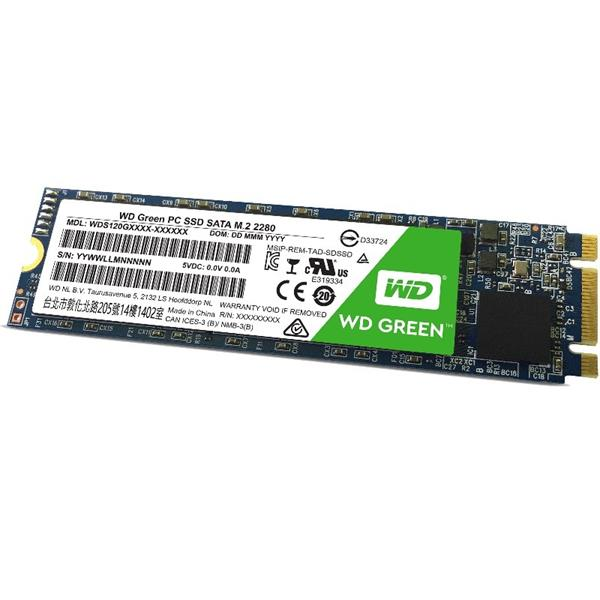 SSD WD 120GB Green SATA III M.2 2280 Internal (WDS120G2G0B)