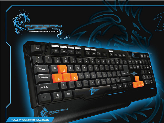 Dragon War Dragon Racon Multimedia Gaming Keyboard - GK-003