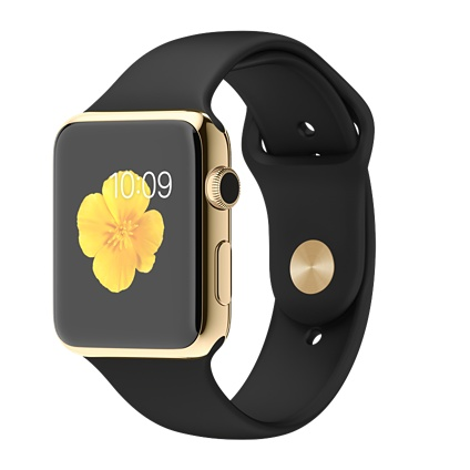Apple Watch 42mm 18-Karat Yellow Gold Case with Black Sport Band