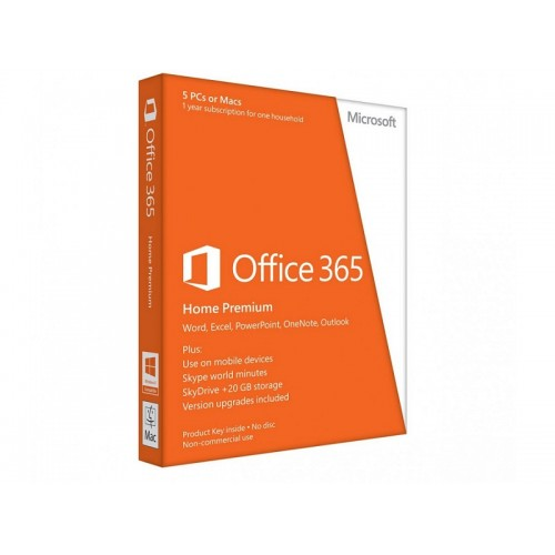 Office 365 Home Premium 32-bit/x64 English Subscr 1YR APAC EM Medialess (6GQ-00018)